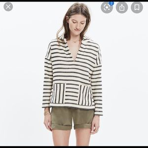 Madewell Terry striped Context hoodie